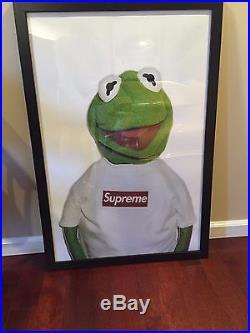 Supreme Kermit the Frog Framed Poster Print 24 x 36 Box Logo Kate Moss