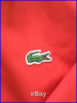 Supreme Lacoste Track Jacket Red White Medium Box Logo