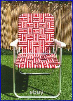 Supreme Lawn Chair // Red + White // SS20 // Box Logo // Retro // Bogo