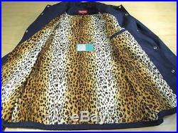 Supreme Leopard Print Coach Jacket XL Navy Blue Box Logo Fw09 2009 Pcl Cdg