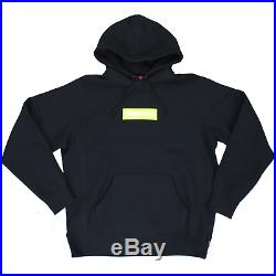 Supreme Lime Green Box Logo Hoodie In Black RRP £900 SOLD OUT WORLDWIDE