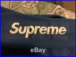 Supreme Logo Sleeve Patch Hooded Sweatshirt Hoodie Blue SS17 SMALL BOGO BOX LOGO