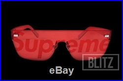 Supreme / Louis Vuitton City Mask Sp Sunglasses Red LV Monogram Box Logo