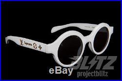 Supreme / Louis Vuitton Downtown Sunglasses White LV Monogram Box Logo