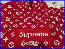 Supreme Louis Vuitton LV Box Logo Hoodie Sweatshirt Size Us Small