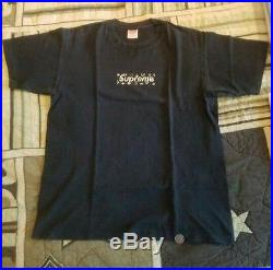 Supreme Louis Vuitton box logo lv black on black size L large vintage rare og