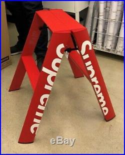Supreme Lucano Step Ladder Authentic FW18 Box Logo Aluminum In Hand