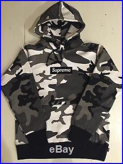 Supreme Men's Snow Camo Box Logo Hoodie Pullover M