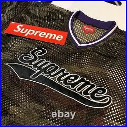 Supreme Mesh Baseball Top (camo) (large) Ss18 Cross Box Logo Tee Football Jersey