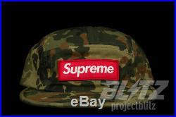Supreme Military Camp Cap German Fleck Ss19 Hat Red White Camo Box Logo Cdg