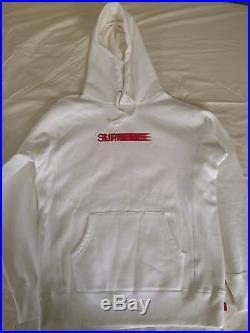 Supreme Motion Logo Hooded Sweatshirt White Large L Box Logo