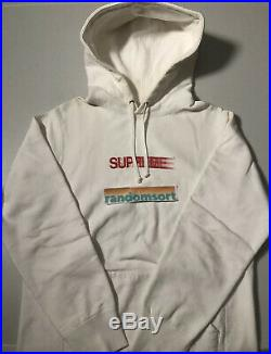Supreme Motion Logo Hoodie White (Size M) SS16 Box Logo Paisley CDG AF1 Tee