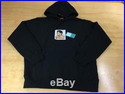 Supreme Muhammad Ali Pullover Hoodie Sweater Black XL SS16 2016 Red Box Logo