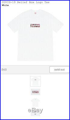 Supreme/Murakami Covid Relief Box Logo Tee Size Large CONFIRMED ORDER