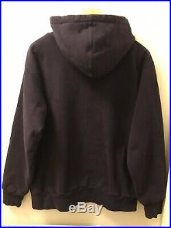 Supreme NYC Arc Spell Out Box Logo Hooded Zip Up Top in L vintage Early 2000s