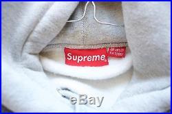 Supreme NYC Box Logo Hoodie Grey Red Size M medium bogo F/W12