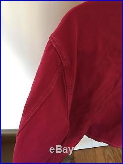 Supreme NYC Chore Coat Jacket L Denim Magenta Coach Pink Red Box Logo Hoodie