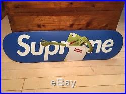 Supreme NYC x Kermit Terry Richardson Box Logo Skate Board Skateboard Deck Blue