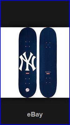 Supreme NY Yankees Brand 47 Skateboard Deck Navy Red Box Logo Anti Hero