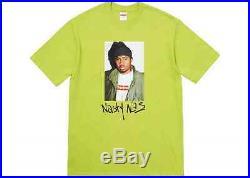 Supreme Nasty Nas Tee T-shirt Size L Large Lime Fall Winter 2017 Box Logo FW17
