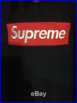 Supreme Navy Bogo Box Logo Sz XL AUTHENTIC hoodie Sweatshirt