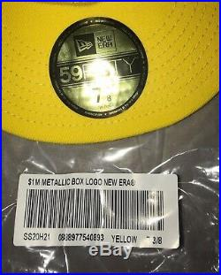Supreme New Era 7 3/8 Yellow Box Logo Fitted DEADSTOCK