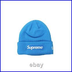 Supreme New Era Box Logo Beanie In Light Blue RRP £235