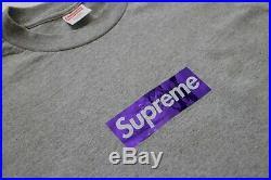 Supreme New York 2006 Holographic Box Logo Bogo Tee T-Shirt Grey Purple L Tyson