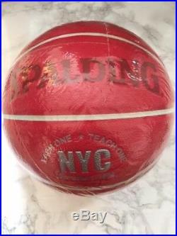 Supreme New York Spalding Basketball Red Original box logo