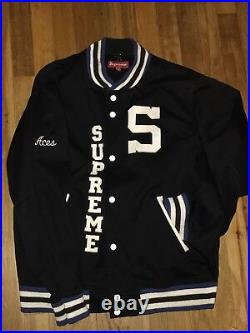 Supreme New York Varsity Jacket Large 2009 Nas Mike Tyson Box logo north face