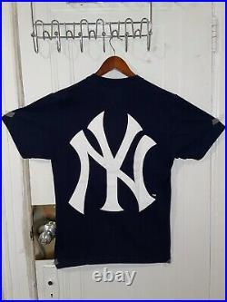 Supreme New York Yankees Box Logo Tee Navy Size Medium T- Shirt
