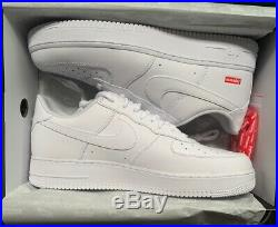 Supreme Nike Air Force 1 Low White Box Logo Size 13 SHIPS FAST! IN HAND