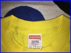 Supreme Og Box Logo Tee T-shirt Cdg Undercover Yankees Kermit XL Xlarge Yellow