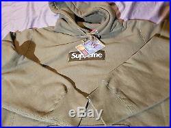 Supreme Olive Box Logo Hoodie size M olive 100% authentic