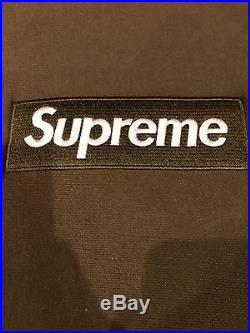 Supreme Olive Box Logo Hoodie size S