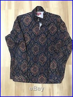 Supreme Ottoman Harrington Jacket Size L Box Logo Ian Connor Leopard M51