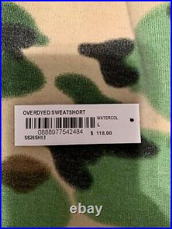 Supreme Overdyed Sweat Shorts Painted Camo Large SS20 Worn Once TNF Box Logo