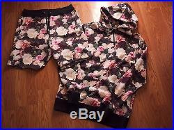 Supreme PCL Hoodie Shorts Set Box Logo Floral Sweatshirt