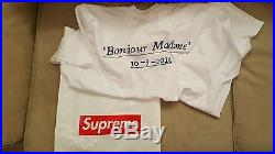 Supreme Paris Box Logo size XL Opening Tee Brand new with OG tag and receipt