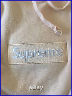 Supreme Peach Box Logo Bogo Hoodie Size Large