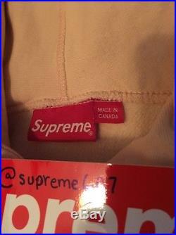 Supreme Peach Box Logo Hooded Sweatshirt XL w Receipt