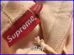 Supreme Peach Box Logo Hoodie. Large