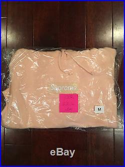 Supreme Peach Box Logo Hoodie Size M 100% Authentic DS