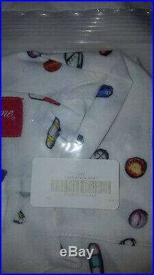 Supreme Pills Button Up Rayon Shirt White XL Drugs Box Logo Summer Pill