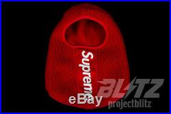 Supreme Polartec Deep Pile Balaclava Face Mask Red Fw17 2017 Accessory Box Logo