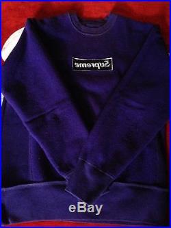 Supreme Purple OG Crewneck Box Logo Size Medium SUPER RARE Damien Paris Shibuya