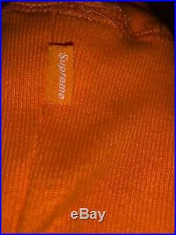 Supreme Rare Orange Box Logo Large Hoodie (2000)