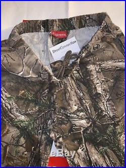 Supreme Realtree Camo Flannel Pants FW17 Woodbine Size Large New Box Logo Black