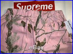 Supreme Realtree Camo Flannel Pants FW17 Woodbine Size Large New Box Logo Pink