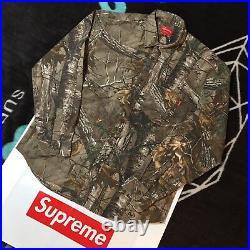Supreme Realtree Camo Flannel Shirt (large) (woodbine) Fw17 Nas Box Logo Tee